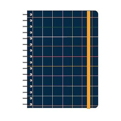 Caderno Wire-o Esquema Xadrez Pautado