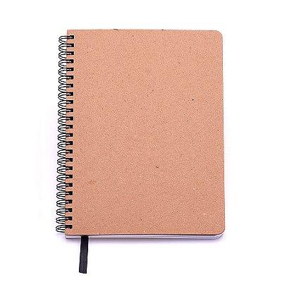 Caderno Kraft 9x13 Mini Sem Pauta