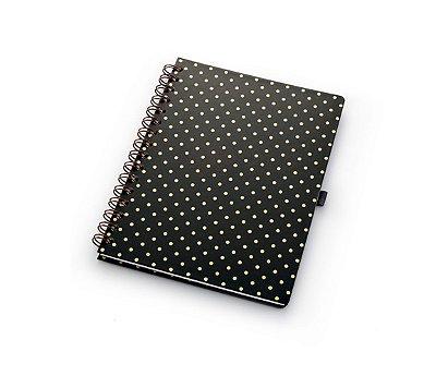 Caderno Pois Black Gold