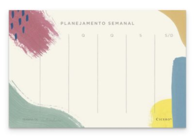 Bloco Planner Semanal Canvas