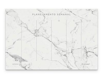 Bloco Planner Semanal Marmore