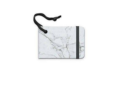 Tag de mala mármore branco