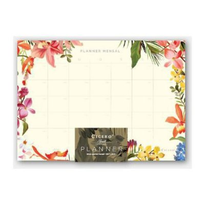 Bloco Planner Mensal Floresta Tropical dia