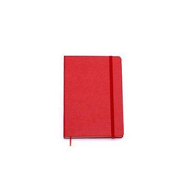 Caderneta Clássica Pautada 14 x21 Vermelha