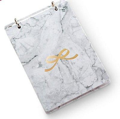 Bloco Ideias com Caixa Presente Marmore Branco