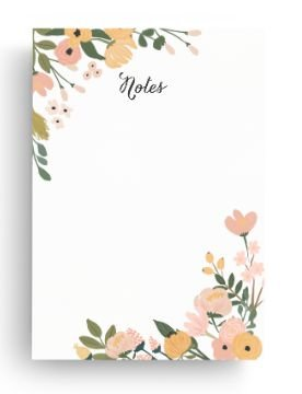 Bloco Notes Floral Cecília G