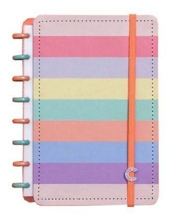 Caderno Inteligente Arco-Iris Pastel A5