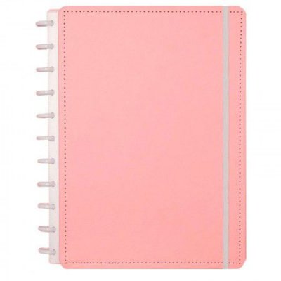 Caderno Inteligente Rose Pastel Grande