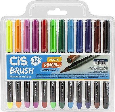 Pincel Brush C/ 12 cores CIS