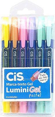 Marca Texto Gel Pastel C/ 6 cores CIS