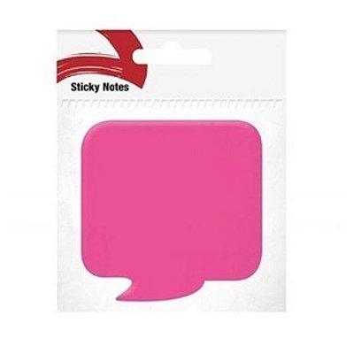 Bloco Adesivo Bate Papo rosa pink neon