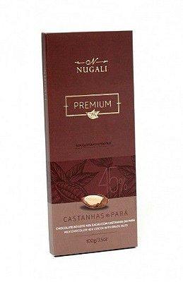 Tablete Chocolate ao leite com Castanhas do Pará