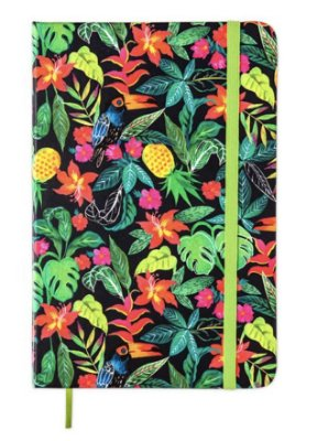 Caderneta Floral Hype Sem Pauta Natalia Stesu 14x21