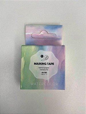 Washi Tape Arco íris pastel