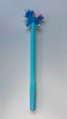 Caneta Unicornio Azul Turquesa