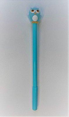 Caneta Coruja Azul Turquesa
