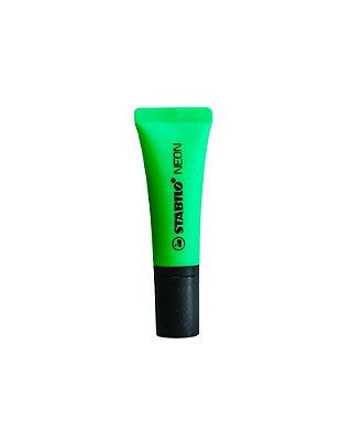 Caneta Stabilo Marca Texto Verde Neon bisnaga
