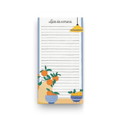 Bloco Planner com ima Pautado Lista da Semana P Capri