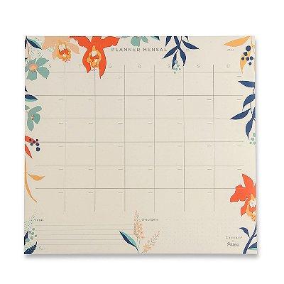 Planner Bloco Mensal Tropical - 29,7 x 27 - mensal