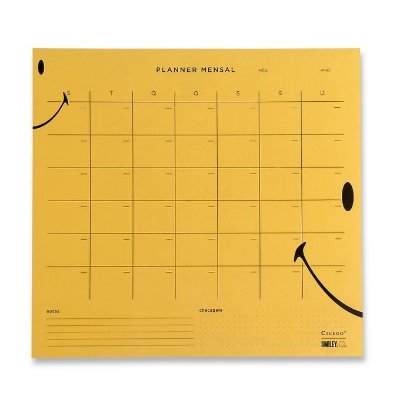 Planner Bloco Mensal Smiley  - 29,7 x 27