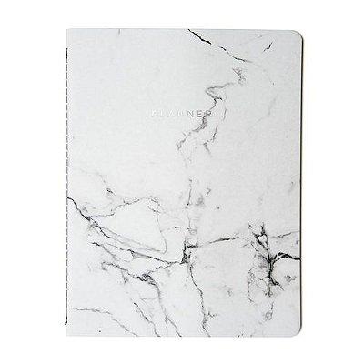 Planner Mármore 19x25 - Branco