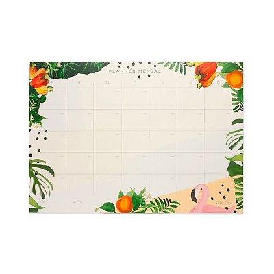 Planner Bloco Mensal Verão 29,7x21 - Flamingo