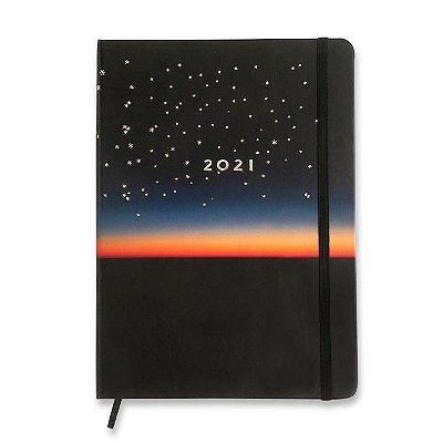 Agenda Planner 2021 Astral - Por do Sol - 17x24 - semanal planejamento