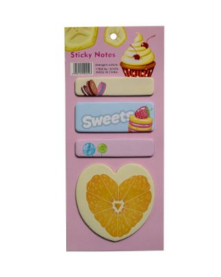 Bloco Adesivo Cupcake Rosa