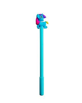 Caneta Unicórnio Azul Turquesa