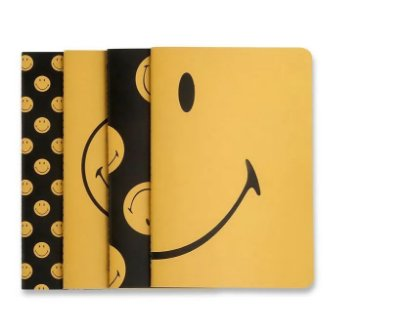 Pack de Cadernos Revistas Smiley Kit Notas Mix