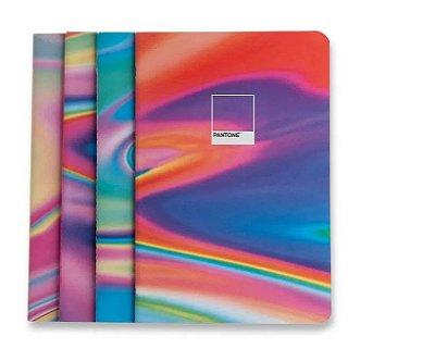 Pack de Cadernos Revistas Holográfico Pantone - Kit Notas Mix