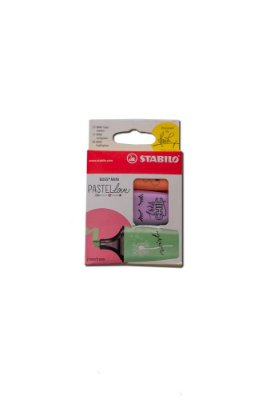 Marca Texto Stabilo Boss Mini Pastel c 3 pçs