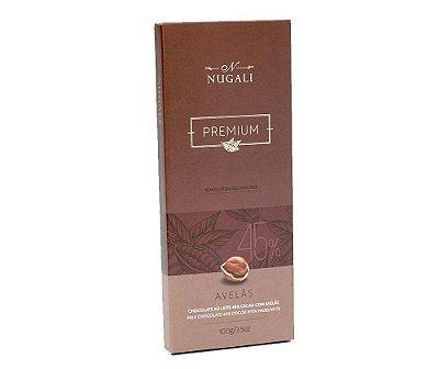 Tablete Chocolate ao leite com Avelas
