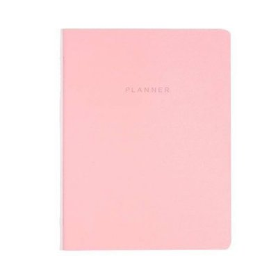 Agenda Planner Revista Mensal Planejamento Rosa Pastel