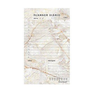 Bloco Planner Diario Minerais Marmore