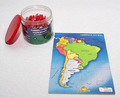 Quebra cabeça América do Sul