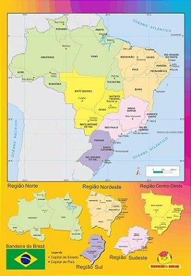 Quebra cabeça Regiões Brasil