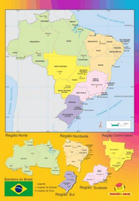 Conjunto de regiões do Brasil