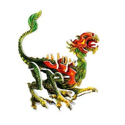 Dragão Guerreiro ll | Brinquedo em MDF