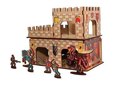 Castelo Medieval Com Dragões e Guerreiros | MDF