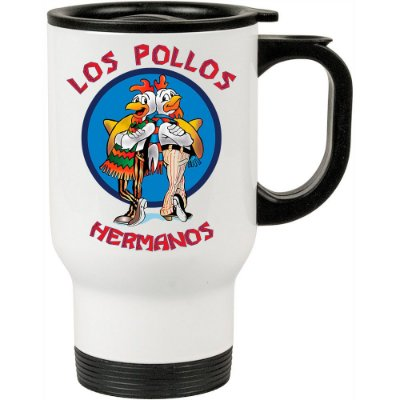 Caneca Térmica Breaking Bad Los Pollos Hermanos 500ml Branca