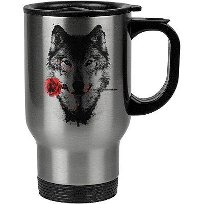 Caneca Térmica A Rosa do Lobo 500ml Inox