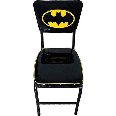 Cadeira Batman Bar Logo Preta em Metal