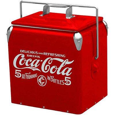 Cooler de Bebidas Coca-Cola 5 Cents Metal 36cm