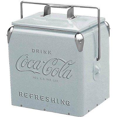 Cooler de Bebidas Coca-Cola Contemporary Prata Metal