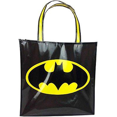 Sacola Batman Preto 40x15cm em Polipropileno