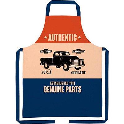 Avental GM Genuine Parts em Algodão 80x70cm