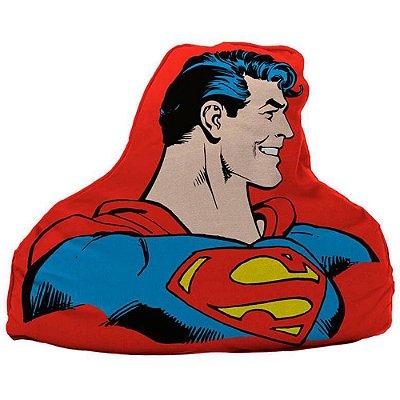 Almofada Superman Half Body Vermelho 45x36cm