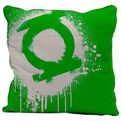Capa para Almofada Green Light Logo Grafit Art 45x45cm