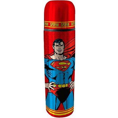 Garrafa Térmica Superman Vermelha 500ml Inox
